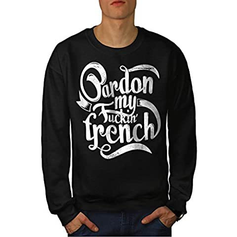 français La langue Slogan Adulte Mot Men M Sweat-shirt |