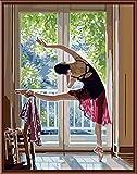 YEESAM ART Neuerscheinungen Malen nach Zahlen für Erwachsene Kinder - Ballett Tänzer Königin 16 * 20 Zoll Leinen Segeltuch - DIY ölgemälde ölfarben Weihnachten Geschenke