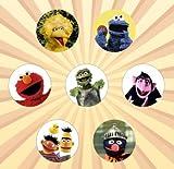 Sesame Street Set de 7 botones de 1 pulgada