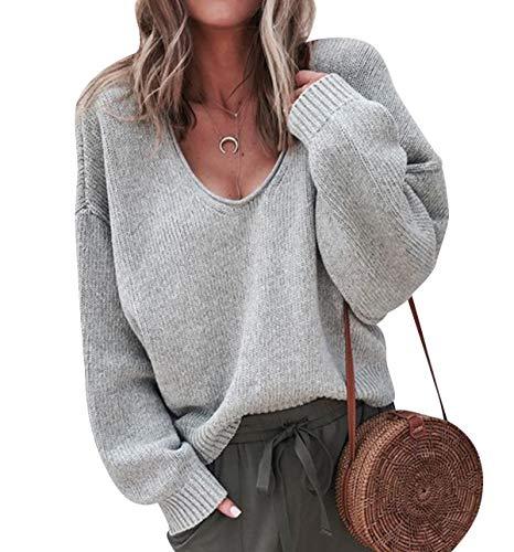limpido in vista ampia selezione prezzo migliore Maglione Donna Maglia Scollo V Maglioni Oversize Pullover ...