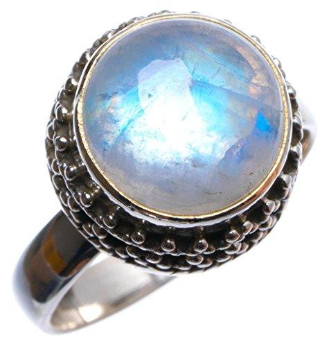 925er Sterling Silber Moonstone Einzigartig Handgefertigt Ringe 17 1/4 Numerous Colors X3012