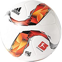 adidas DFL Toptraining - Balón de fútbol, color blanco / rojo / negro / naranja, tamaño 5