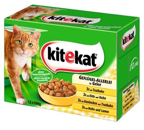 Kitekat Multipack 12 Geflügel-Allerlei in Gelee 4x(12x100g) - Katzenfutter
