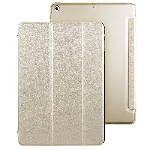 Coque iPad 2017 Dorée, Coque ESR iPad 5ème génération (2017) 9,7 pouces Smart Cover Case Housse Étui de Protection Rigide Utlra Fin avec Support Intég...