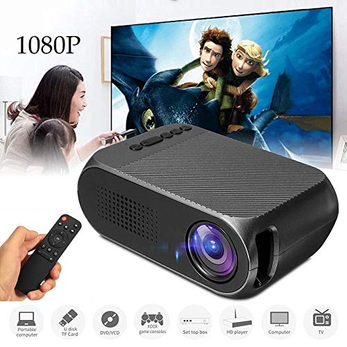 KAIDILA Projektor, YG320 Mini-Projektor LED Projektor Beamer 600LM Audio HDMI USB Mini YG-320 Projetor Home Theater Medien wiedergeben ER Beamer 320 Audio