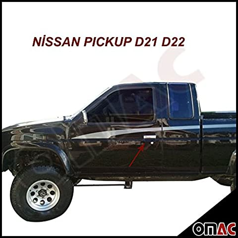 Chrome Door Handles Stainless Steel Nissan Pickup 2–Door Pick Up Skystar D21 D22 1997–2004