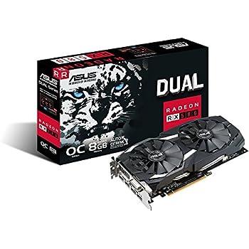 ASUS DUAL-RX580-O8G Radeon RX 580 8GB - Tarjeta gráfica (AMD ...