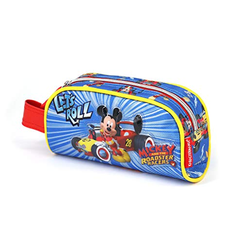 KARACTERMANIA Mickey Mouse Racers-Book Pencil Case Federmäppchen, 21 cm, Blau (Blue)