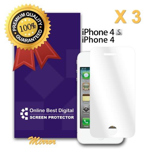 OnlineBestDigital - Apple iPhone 4S / iPhone 4 Anti-rayures Case Protection d'écran / Guard / Film / Foil / Couverture - Confidentialité Anti Spy (Pack de 1) Miroir