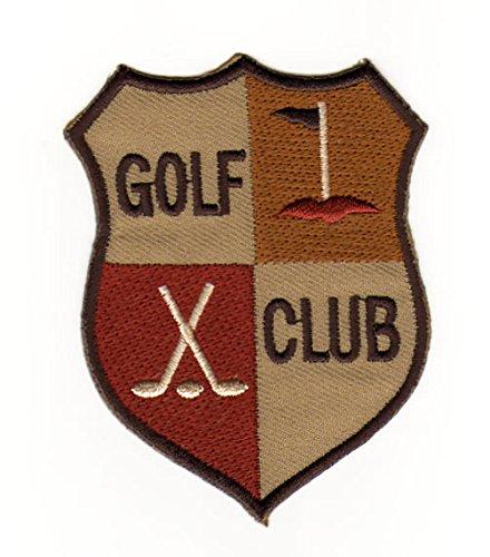 Aufnäher Bügelbild Abzeichen Golf Sport Club Schläger Wappen
