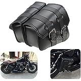 BJ Global - Bolsas laterales de sillín de piel sintética para motocicleta Harley Davidson, dos piezas, SPORTSTER XL883XL1200