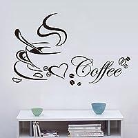 calistouk adhesivo decorativo para pared un hogar adorno de moda perfecto café pegatinas de pared