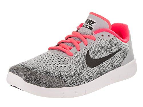 los angeles bddde 375b7 Zapatillas de running Nike Kids Free Rn 2017 (GS) Wolf Gray  Black  Racer  Pink 6.5 Nios EE. UU.