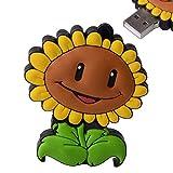 d-click TM Hochwertige, 4GB/8GB/16GB/32GB/64GB/High Speed, USB Flash Memory Stick Pen Drive Festplatte gelb sonnenblume 16 GB