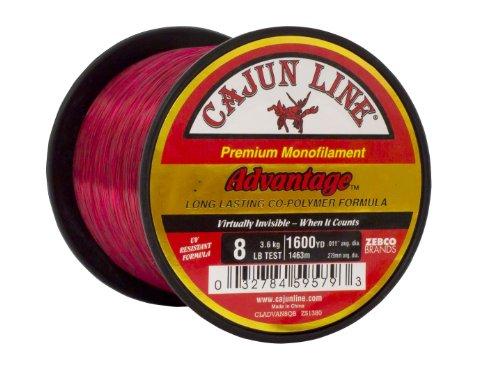 Cajun Line Red Advantage 1/4 Pfund Spule mit Testfischschnur, Unisex-Erwachsene, CLADVAN50QB, rot, 50-Pound -