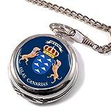 Canario Islas Islas Canarias (España) Reloj Bolsillo Hunter Completo