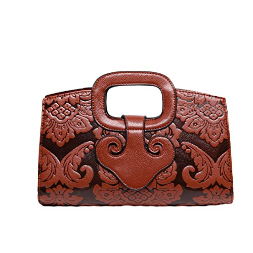 Chinesische Winddruck Handtasche Umhängetasche Diagonale Paket Handtasche Freizeit Mode Wild Brown