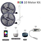 Protium WiFi RGB Smart Light Strip Kit, Music/Mobile app/Voice Controlled by Alexa, 30L/m