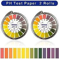 BornFeel PH Teststreifen 2 Rollen PH Indikator Lackmus Test Papier 0-14 Indikatorpapier Lackmuspapier Indikatorstreifen 5m Lang