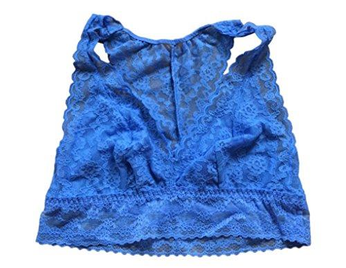 Victoria's Secret Damen Racerback-Bralette aus Spitze, ungefüttert, Rosa - Blau - small -