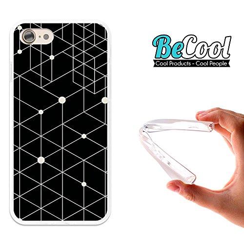 BeCool®- Coque Etui Housse en GEL Flex Silicone TPU Iphone 8, Carcasse TPU fabriquée avec la meilleure Silicone, protège et s'adapte a la perfection a ton Smartphone et avec notre design exclusif. Col L1040