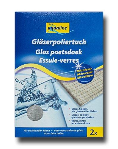 aqualine 2350 Microfaser Gläser Poliertuch, 2er Pack