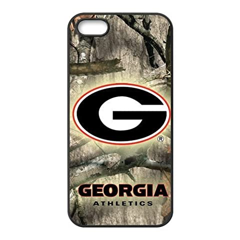 DiyCaseStore NCAA Georgia Bulldogs iPhone 5 5S Well-designed Camouflage Camo Tree Background Case Cover Protector