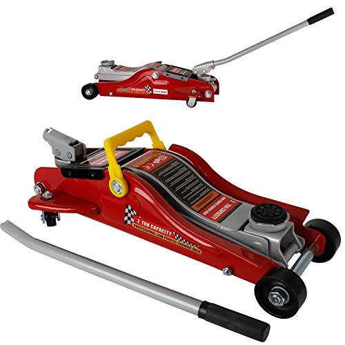 Miafamily Cric/Sollevatore/Martinetto Idraulico a Carrello Cricco a Carrello per Auto (2T)
