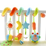 Kid Infant Baby Activity Spiral Wrap Around Crib Bed Bassinet Stroller Rail Toy by SHILOH