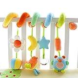 Kid Infant Baby Activity Spiral Wrap Around Crib Bed Bassinet Stroller Rail Toy by...