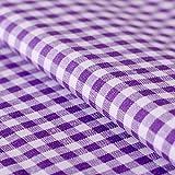 Hans-Textil-Shop Stoff Meterware Karo 5x5 mm Baumwolle