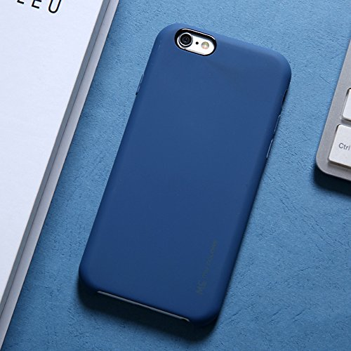 "MOONCASE iPhone 6 Plus/iPhone 6s Plus Hülle, Weich TPU Kratzfest Stoßfest Schutztasche Ultra Slim Schroff Rüstung Handysocken Case für iPhone 6 Plus/iPhone 6s Plus 5.5"" Pink Dark Blue"