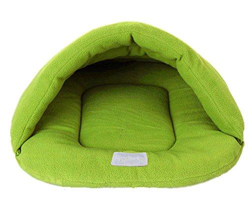 Fully Haustier Tasche Matte Zwinger Decke Kissen Hunde Katze Hamster Welpe Hase Bett Haus Schlafen (S (28 * 38cm), Grün)
