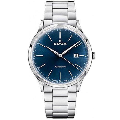Edox Men's Les Vauberts 42mm Steel Bracelet Automatic Watch 80106 3M BUIN