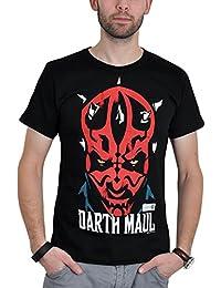T-shirt La Guerre des Etoiles Dark Maul haute qualité coton noir