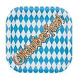 Whity Whiteman Oktoberfest Assiette décorative en Carton Motif Bavarois Bleu/Blanc