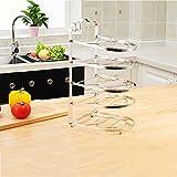 POINTTH Cuisine Pan Holder Rack Pot Lid Organisateur Étagère de rangement Standing Cookware Supports Cabinet Pantry (Taille: L24 * W18.5 * H42cm)