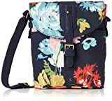 Joules Womens Tourer Canvas Cross-Body Bag Blue (French Navy Posy)