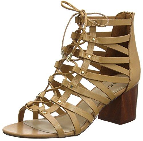 Aldo Women Myssi Ankle Strap Sandals, Brown (Camel), 5 UK 38 EU