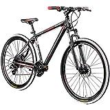 Galano Mountainbike 29 Zoll Hardtail MTB Fahrrad Ravan 24 Gänge Bike 3 Farben (schwarz/rot, 48 cm)