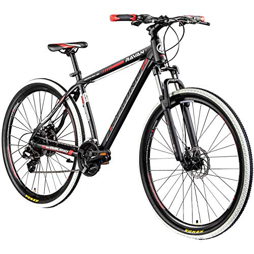 Galano Mountainbike 29 Zoll Hardtail MTB Fahrrad Ravan 24 Gänge Bike 3 Farben (schwarz/rot, 48 cm) (Bike Mountain 29)