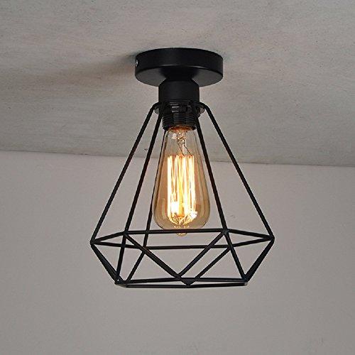 Deckenleuchte Retro Metall Käfig Deckenlampe CE-Zertifikat Innenbeleuchtung E27 220V für Büro Restaurant Wohnzimmer Bar [Energieklasse A+] -
