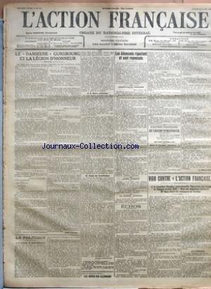 FIGARO (LE) [No 111] du 21/04/1917 - LE LANGAGE POILU PAR EMILE BERGERAT - CONFERENCE D ALLIES M RIBOT ET M LLOYD GEORGE SE SONT RENDUS AVANT HIER A SAINT JEAN DE MAURIENNE POUR TRAITER UN CERTAIN NOMBRE DE QUESTIONS ET S ENTRETENIR AVEC M BOSELLI - FIGURE AMERICAINE BRAND WHITLOCK - LA GUERRE COMMUNIQUES OFFICIELS - LA CAMPAGNE RUSSE - AUTOUR DE LA BATAILLE - LES GREVES EN ALLEMAGNE - LA CRISE ESPAGNOLE PAR A FITZ MAURION - L AMERIQUE EN GUERRE PLUS D EXPORTATIONS POUR L ALLEMAGNE - M CHAMBERLA
