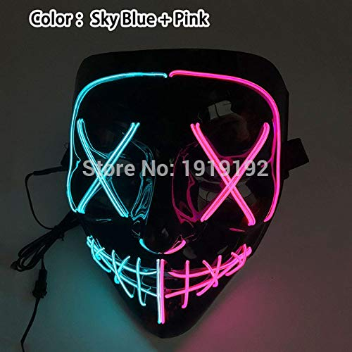 Origin Kostüm Scream - 2019 LED Halloween Maske Film Purge Masken Wahl Mascara Kostüm DJ Leuchten Party Masken Glow In Dark Cosplay Zahltag Maske   Typ 01