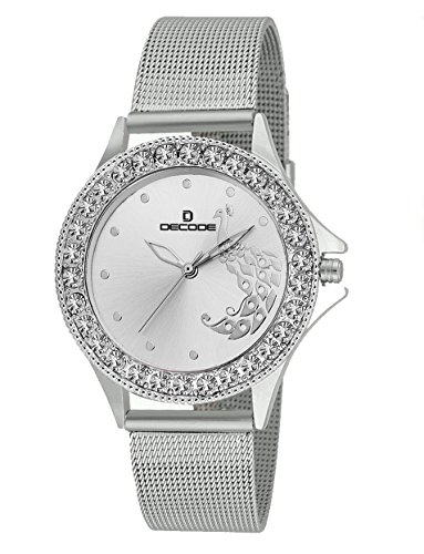 Decode Ladies Crystal Studded-LR020 Silver Analog Watch – For Girls, Women