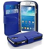 Cadorabo - Book Style Hülle für Samsung Galaxy S4 MINI (I9195) - Case Cover Schutzhülle Etui Tasche mit Kartenfach in KÖNIGS-BLAU