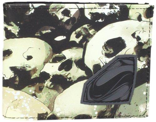 DC Comics Superman Man of Steel Skull Logo Bifold Portafoglio