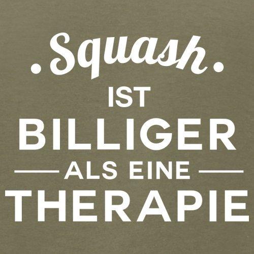 Squash ist billiger als eine Therapie - Herren T-Shirt - 13 Farben Khaki