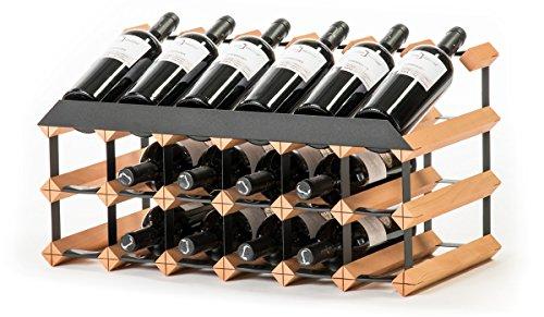 RAXI Marken Holz Weinregal Show für 18x Flaschen - komplett montiert