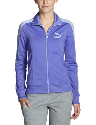 PUMA Damen Lifestyle-Trainingsjacke Heroes T7, purple opulence, S, 557874 22
